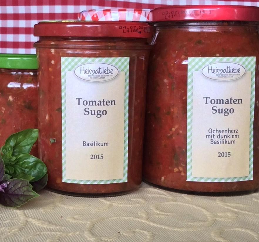 Vorrat für den Winter -Tomatensugo